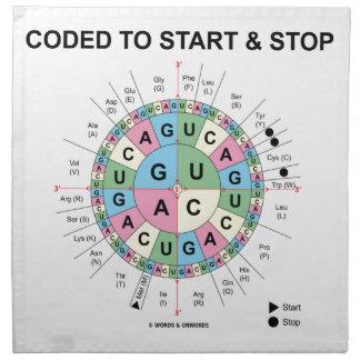 Cifrado para comenzar y para parar (rueda del servilleta de papel
