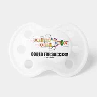 Cifrado para el éxito (réplica de la DNA) Chupete De Bebé