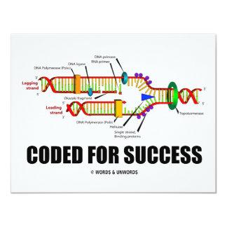 """Cifrado para el éxito (réplica de la DNA) Invitación 4.25"""" X 5.5"""""""