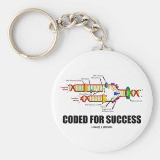 Cifrado para el éxito (réplica de la DNA) Llavero Redondo Tipo Pin