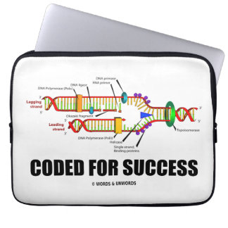 Cifrado para el éxito (réplica de la DNA) Mangas Computadora
