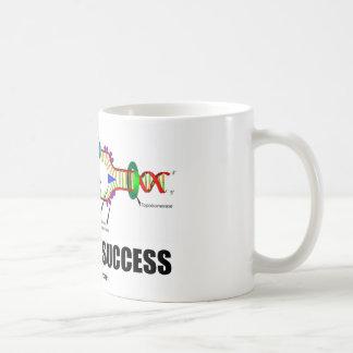 Cifrado para el éxito (réplica de la DNA) Taza