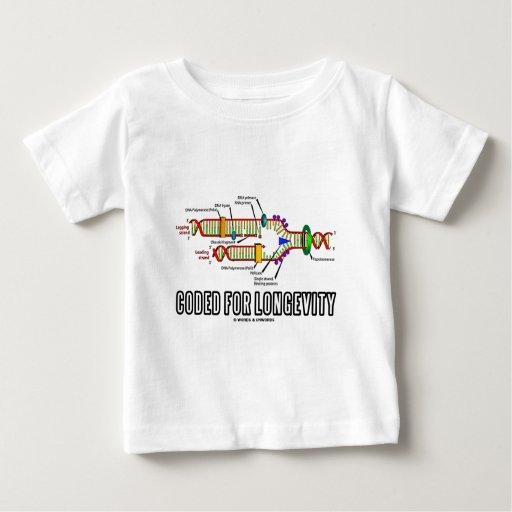Cifrado para la longevidad (réplica de la DNA) T-shirts
