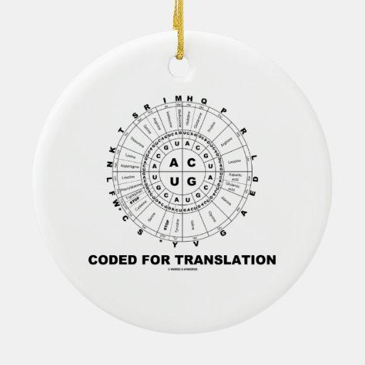Cifrado para la traducción (rueda del codón del AR Ornamento De Navidad