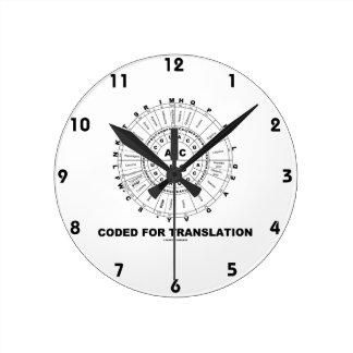 Cifrado para la traducción (rueda del codón del AR Relojes