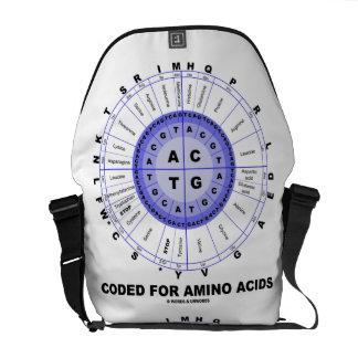 Cifrado para los aminoácidos (código de la DNA de  Bolsa De Mensajeria