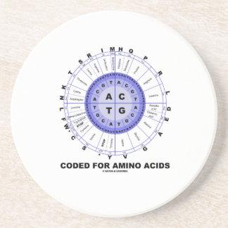 Cifrado para los aminoácidos (DNA del código Posavasos Para Bebidas