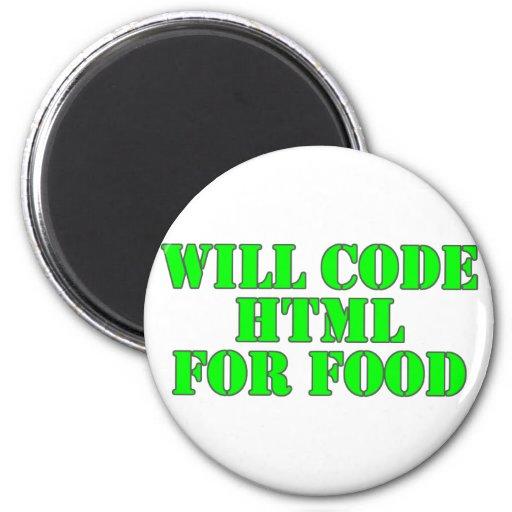 Cifrará el HTML para la comida Imán Redondo 5 Cm