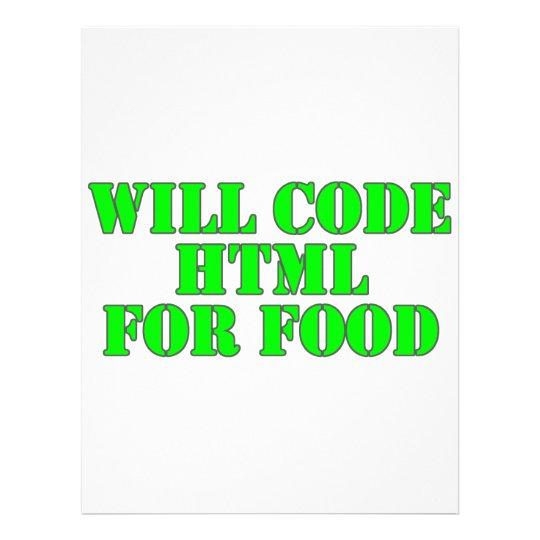 Cifrará el HTML para la comida Membrete A Diseño