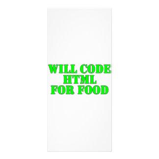 Cifrará el HTML para la comida Tarjetas Publicitarias