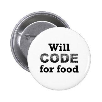 Cifrará para el botón de la comida pin redondo de 2 pulgadas