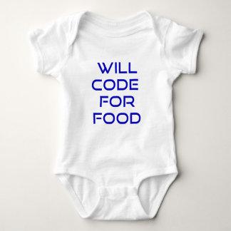 Cifrará para la comida body para bebé