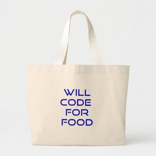 Cifrará para la comida bolsa tela grande