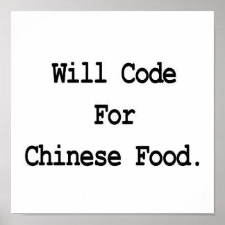 cifrará para la comida china poster