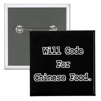 cifrará para la comida china pin cuadrado