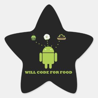 Cifrará para la comida (el analista de programas pegatina en forma de estrella