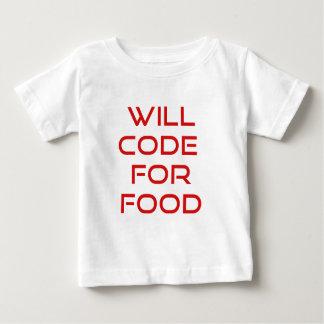 Cifrará para la comida playera de bebé