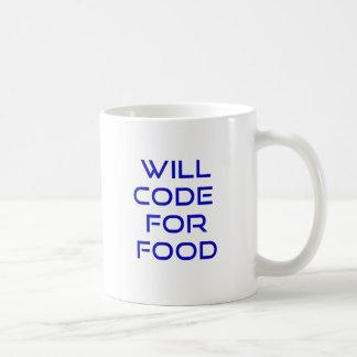 Cifrará para la comida taza de café