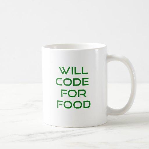 Cifrará para la comida tazas de café