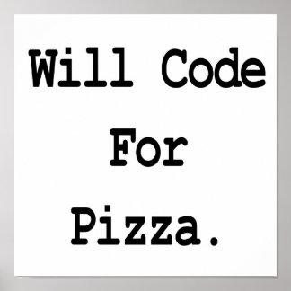 cifrará para la pizza posters