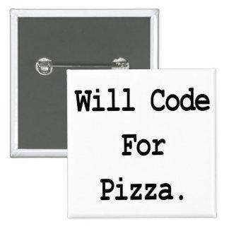 cifrará para la pizza pin cuadrado