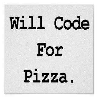 cifrará para la pizza póster