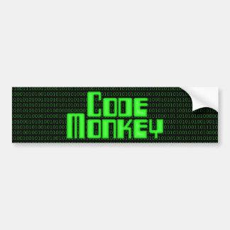 Cifre a la pegatina para el parachoques del mono pegatina para auto