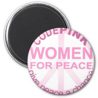 CIFRE a las mujeres rosadas para la paz Imán Redondo 5 Cm