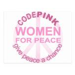 CIFRE a las mujeres rosadas para la paz Postales