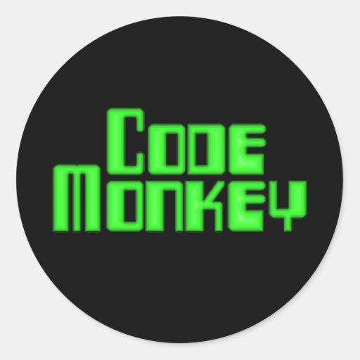Cifre al pegatina del mono