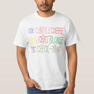 Cifre compilan y beben la camiseta del café playeras