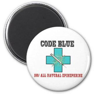 Cifre el azul el 100% toda la epinefrina natural imán redondo 5 cm