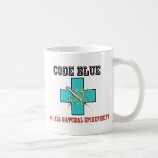 Cifre el azul el 100 toda la epinefrina natural taza