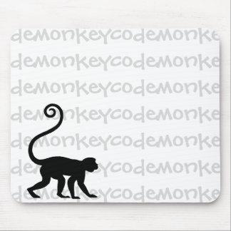 Cifre el cojín de ratón del mono alfombrilla de ratones