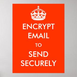Cifre el correo electrónico para enviar con seguri impresiones