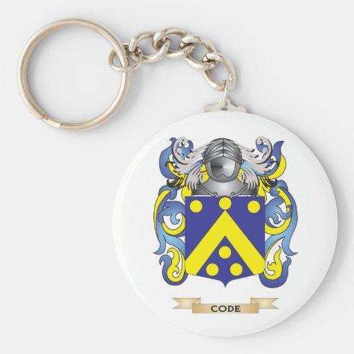 Cifre el escudo de armas llaveros personalizados