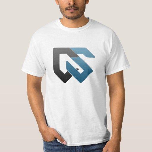 Cifre el logotipo del azul de la camiseta del camisas