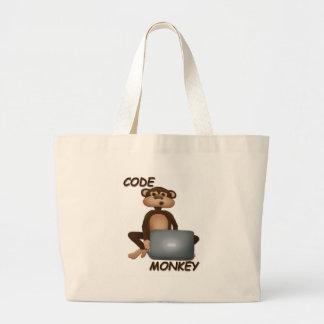Cifre el mono bolsa de tela grande