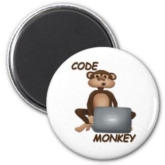 Cifre el mono imán redondo 5 cm