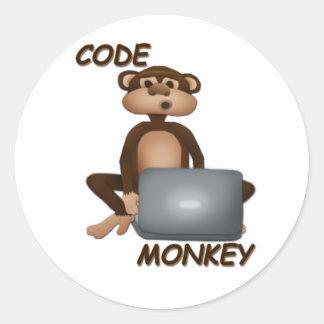 Cifre el mono pegatinas redondas