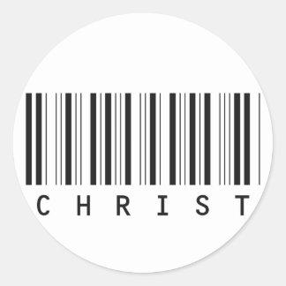 Cifre la barra Cristo noir Etiquetas Redondas