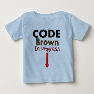 Cifre las camisetas EN CURSO de los niños de Brown Playera