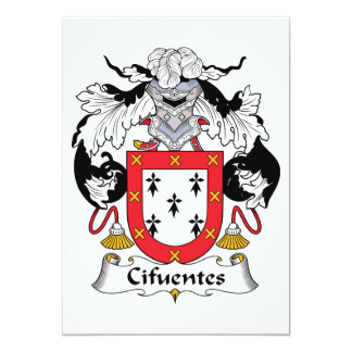 Cifuentes Family Crest Personalized Invites