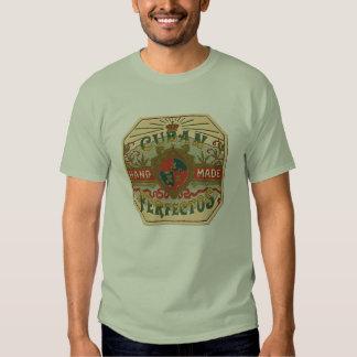 Cigar Ad Cuban Perfectos Tobacco Label T-Shirt