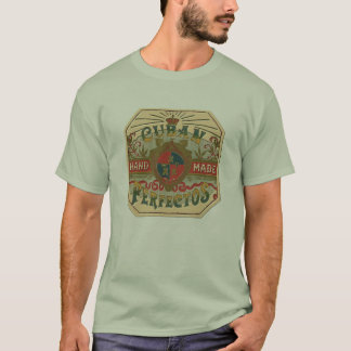 Cigar Ad Cuban Perfectos Tobacco Label T-Shirt