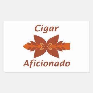 Cigar aficionada pegatina rectangular
