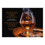 Cigar and Brandy Invitation