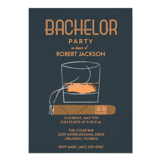 Cigar and whisky bachelor party invitation zazzle cigar and whisky bachelor party invitation stopboris Images