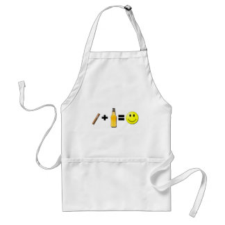 Cigar + Beer = Happiness Adult Apron