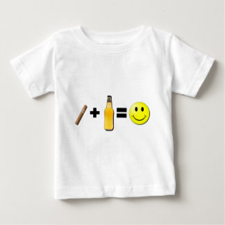 Cigar + Beer = Happiness Baby T-Shirt